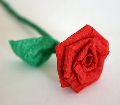 crepe paper roses