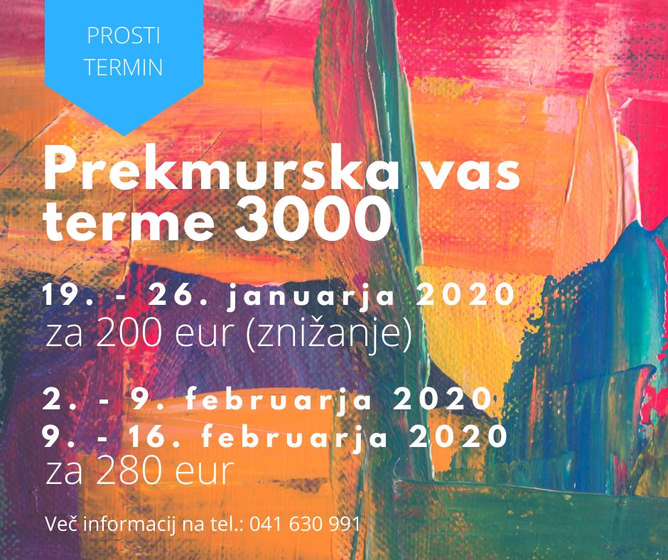 PROST TERMIN terme 3000 2020